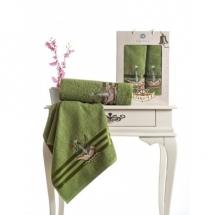 Barbossa Nakışlı Havlu Set-Yeşil