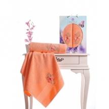 Butterfly Nakışlı Havlu Set-Yavru Ağzı
