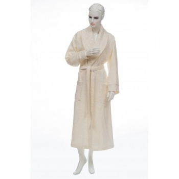 e248 Bamboo Women's Eluca Bathrobe-Cream