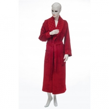 e248 Bamboo Women's Eluca Bathrobe-Claret Red